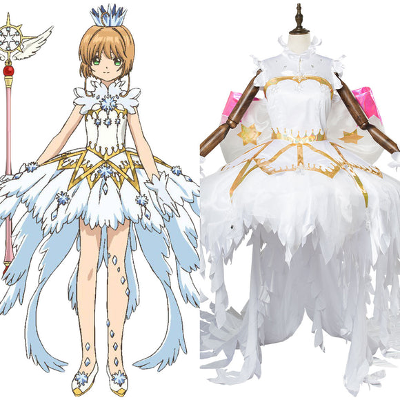 Cardcaptor Sakura Clear Card Sakura Kinomoto Angel Cosplay Costume
