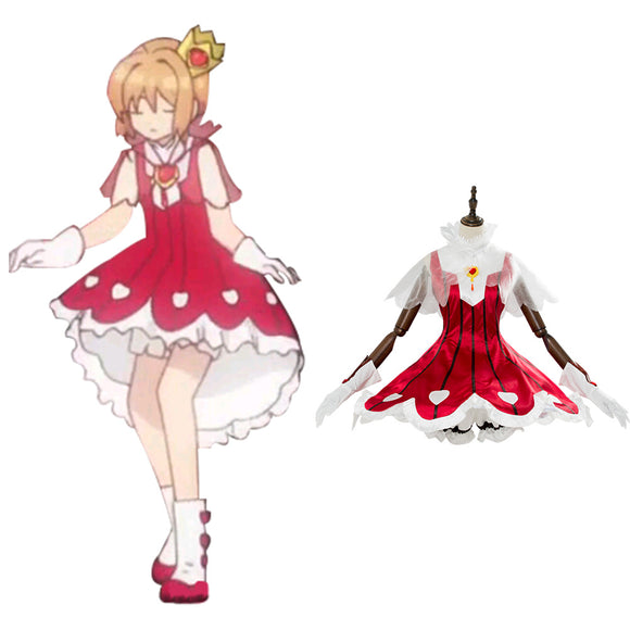Cardcaptor Sakura: Clear Card Sakura Kinomoto Rose Heart Cosplay Costume