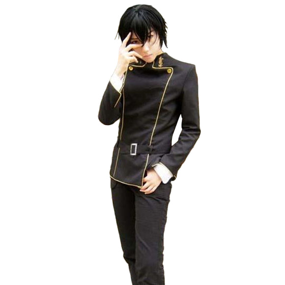 Code Geass Lelouch Zero Lamperouge Ashford Uniforme Scolaire Cosplay Costume