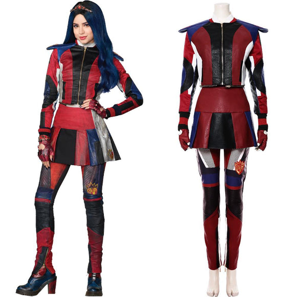 Descendants 3 Evie Costume Adulte et Enfant Cosplay Costume Halloween