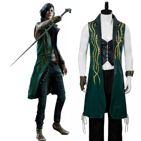 Devil May Cry 5 Mysterious Man Vitale V DLC Cosplay Costume