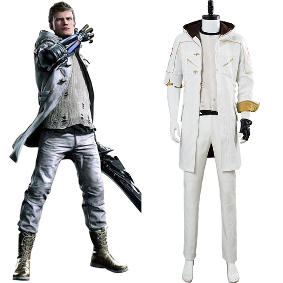 Devil May Cry V DMC 5 Nero Costume Complet Blanc DLC Cosplay Costume