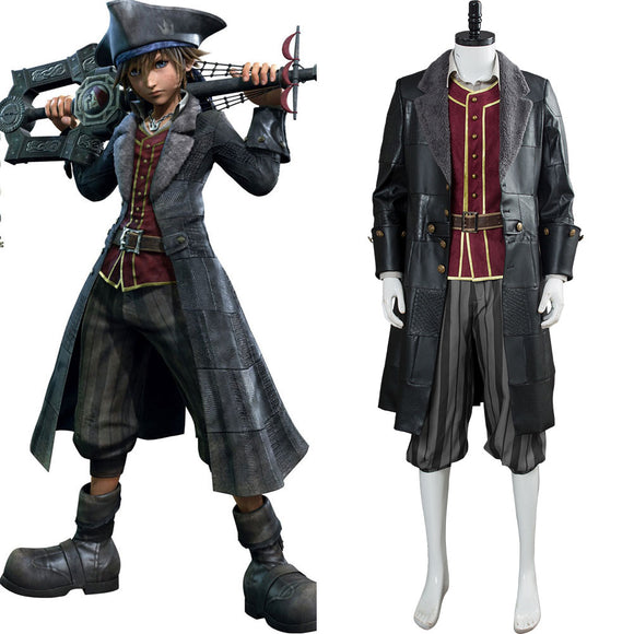 Kingdom Hearts III Sora Pirate Cosplay Costume