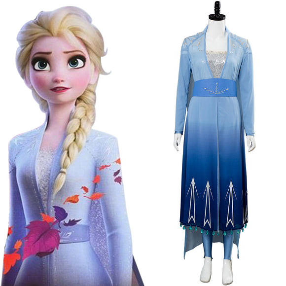 La Reine des neiges 2 Frozen 2 Elsa Robe Cosplay Costume