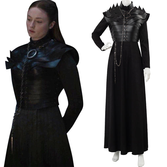 Le Trône De Fer 8 GOT Game of Thrones S8 E2 Sansa Stark Cosplay Costume