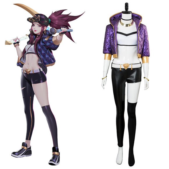 League of Legends LOL K/DA Akali Cosplay Costume