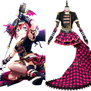 LoveLive Sunshine Ruby Kurosawa Punk Rock Cosplay Costume