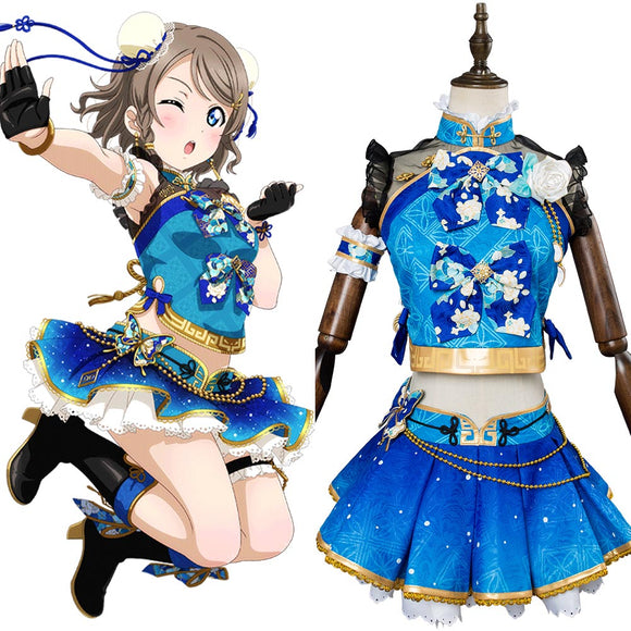 Love Live ! LoveLive Sunshine You Watanabe Qipao Cosplay Costume