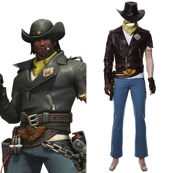 Overwatch Jesse Mccree Nouveau Deadlock McCree Skin Cosplay Costume