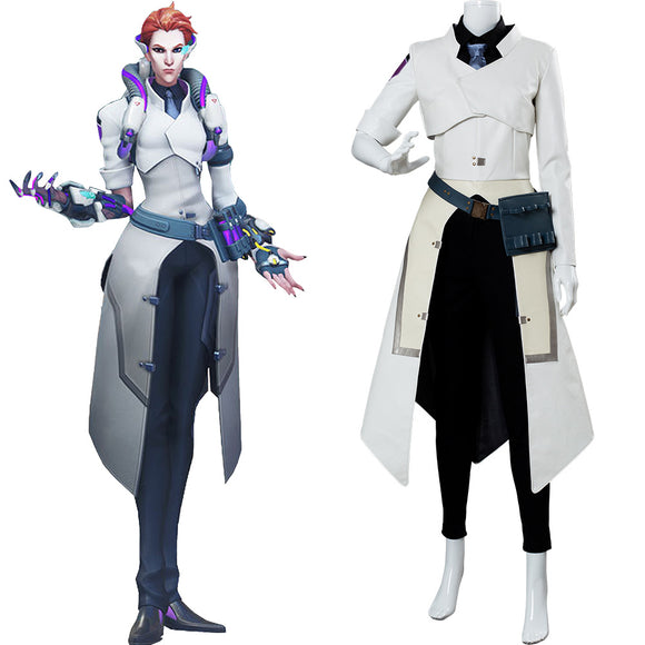 Overwatch Moira Scientist Skin Cosplay Costume