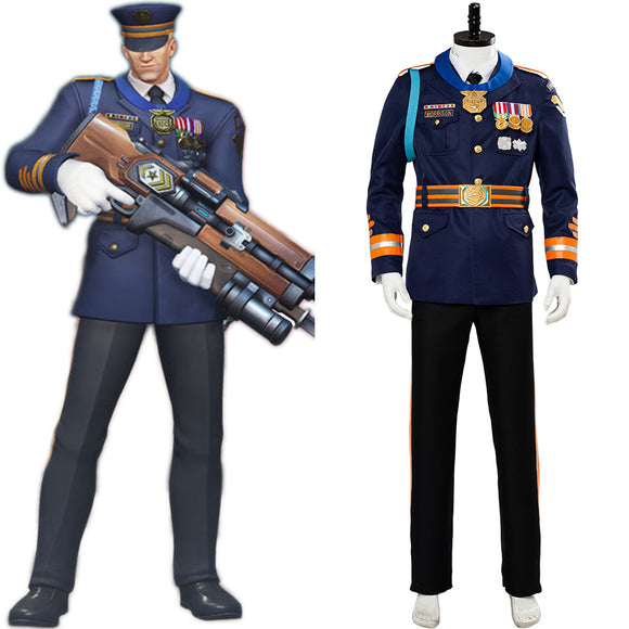 Overwatch Storm Rising 2019 Skin Formal Uniform Soldier 76 Cosplay Costume