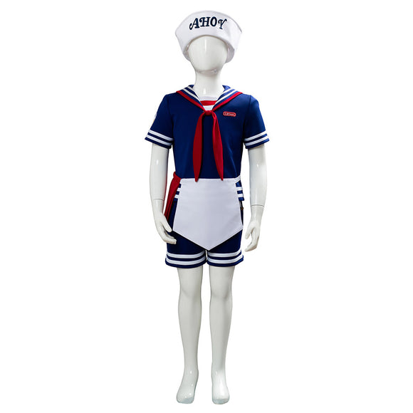 Stranger Things 3 Scoops Ahoy Steve Harrington Cosplay Costume Enfant
