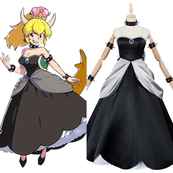 Super Mario Kuppa Hime Bowsette Princesse Robe Cosplay Costume