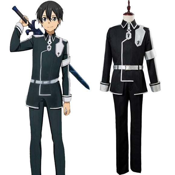 Sword Art Online Alicization Kazuto Kirigaya Kirito Uniform Nouveau Cosplay Costume
