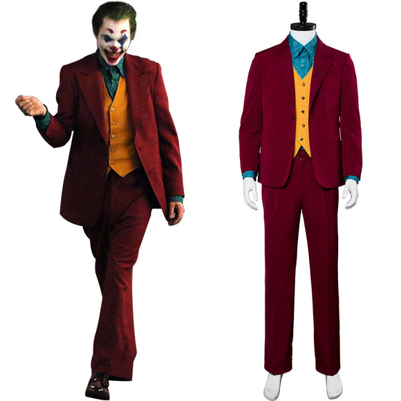 The Joker 2019 Film Joaquin Phoenix Arthur Fleck Joker Cosplay Costume