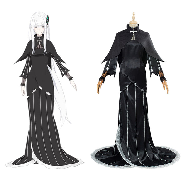 Re:Life in a different world from zero Echidna/Ekidona Jupe Noire Tenue Halloween Carnaval Cosplay Costume