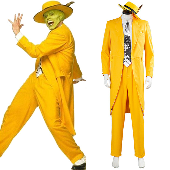 The Mask Jim Carrey Costume jaune Uniforme Halloween Carnaval Cosplay Costume