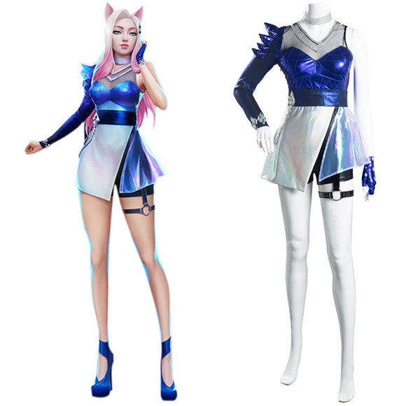 League of Legends LOL KDA All Out Ahri Cosplay Costume
