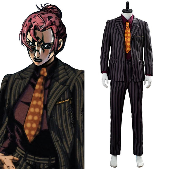 JoJo's Bizarre Adventure Golden Wind jjba Diavolo Tenue Cosplay Costume