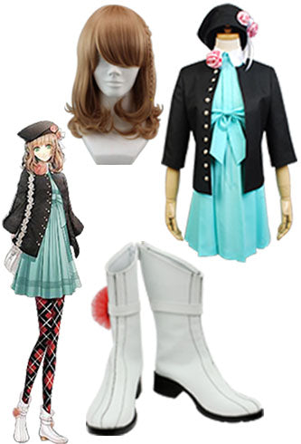 Amnesia The heroine Cosplay Costume + Perruque + Chaussures