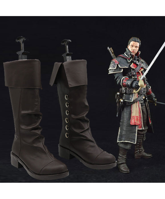 Assassin's Creed Rogue Shay Cormac Bottes Cosplay Chaussures