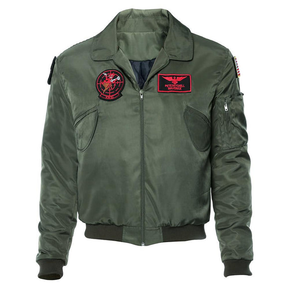 Top Gun Tom Cruise Maverick Blouson Aviateur Cosplay Costume
