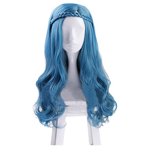 Descendants 3 Evie Cosplay Perruque Bleue Claire