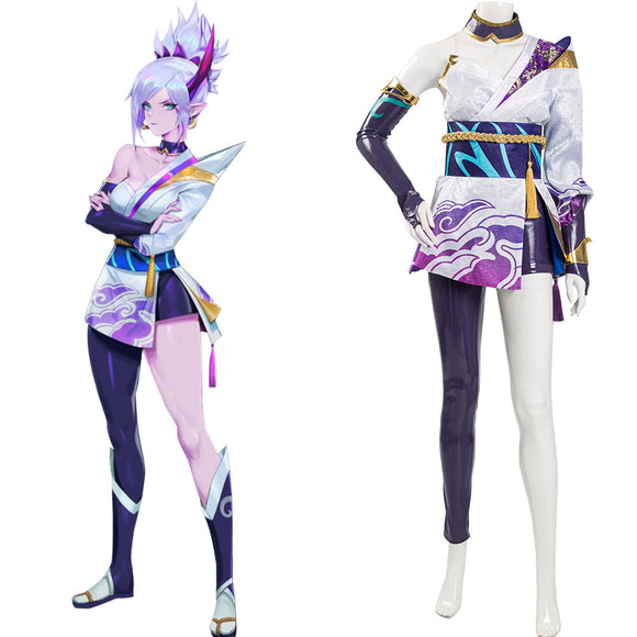 League of Legends LoL 2020 Spirit Blossom Riven Halloween Carnaval Cosplay Costume