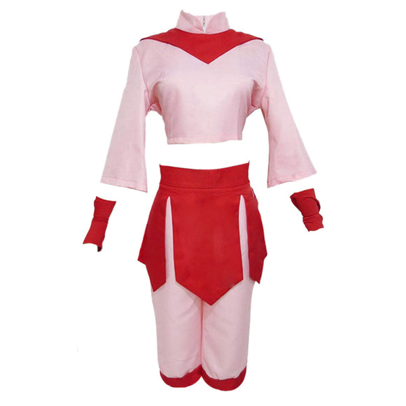 Avatar The Last Airbender Ty Lee Adulte Femme Jupe Rose Hanfu Halloween Carnaval Cosplay Costume