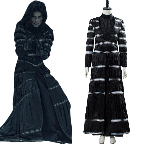 The Witcher Netflix Yennefer Robe Noire Cosplay Costume