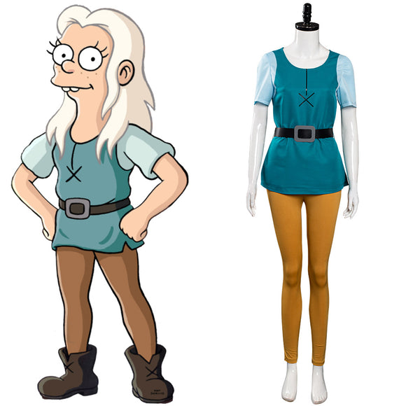 TV Désenchantée Disenchantment S3 Princesse Bean Cosplay Costume