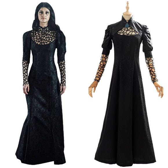 The Witcher Yennefer Robe Noire Cosplay Costume