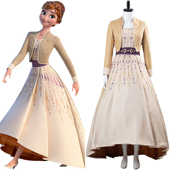 La Reine Des Neiges 2 Frozen 2  Princess Anna Jupe pique-nique Anna Cosplay Costume