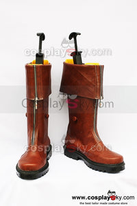 Final Fantasy 7 Cloud Botte Brune  Cosplay Chaussures