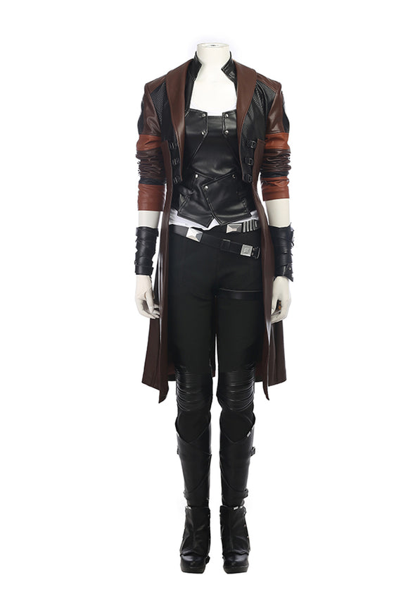 Guardians of the Galaxy 2 Gamora Cosplay Costume Avec Bottes