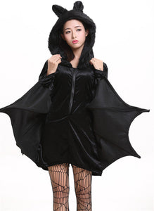 Halloween Sexy Chauve-souris Cosplay Costume Femme Adulte