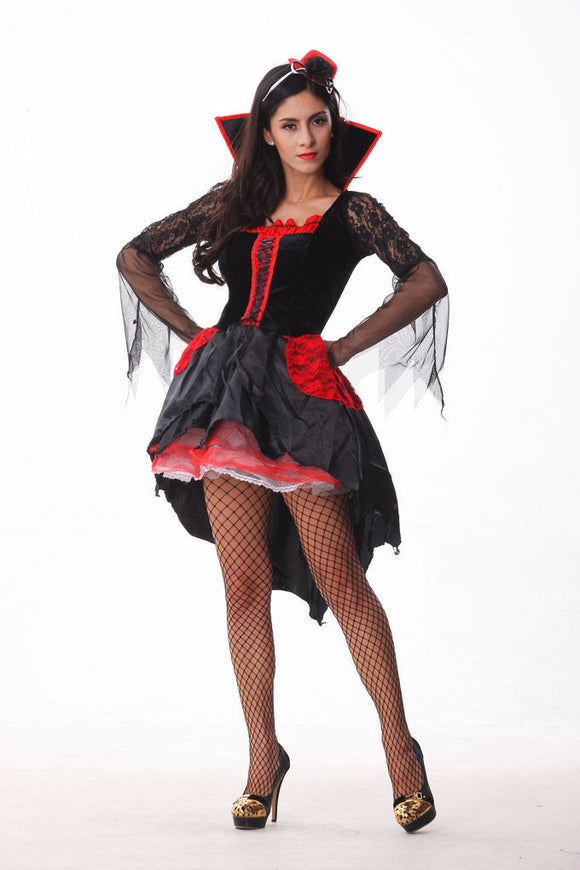 Halloween Vampire Femme Sexy Robe Cape Adulte Cosplay Costume