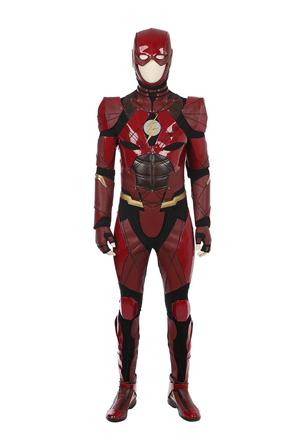 Justice League 2017 Film Barry Allen Flash Halloween Cosplay Costume