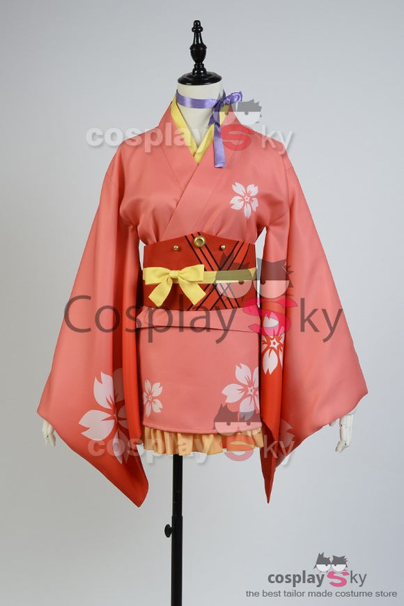 Kabaneri of the Iron Fortress Mumei Yukata Kimono Cosplay Costume