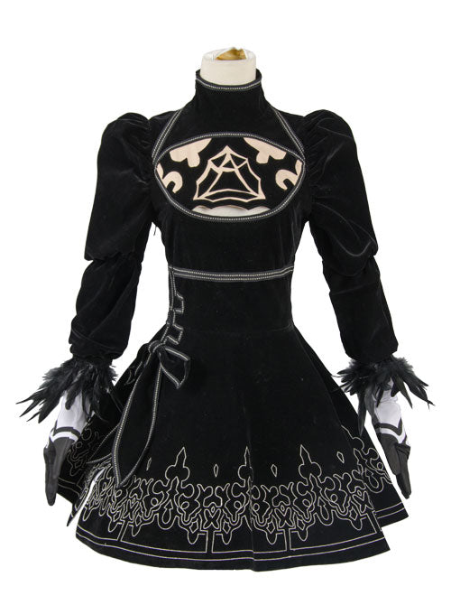 NieR: Automata 2B Uniforme Robe Cosplay Costume