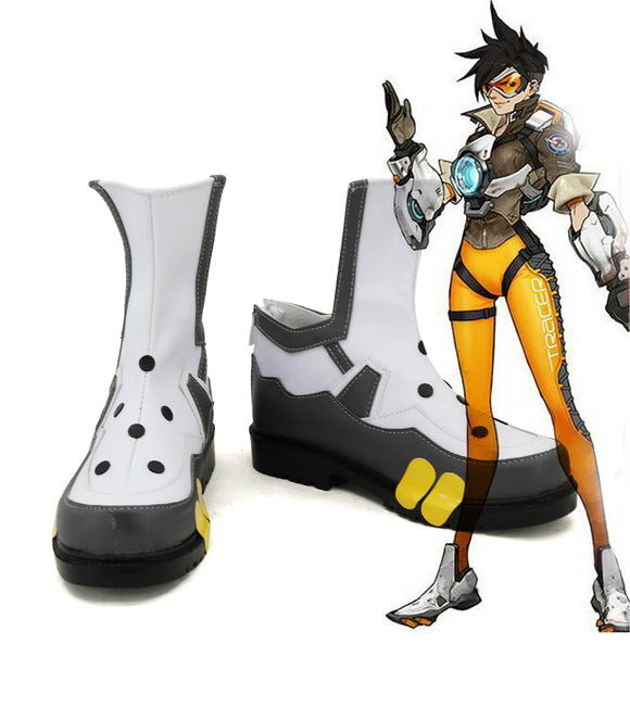 Overwatch OW Tracer Lena Oxton Cosplay Chaussures