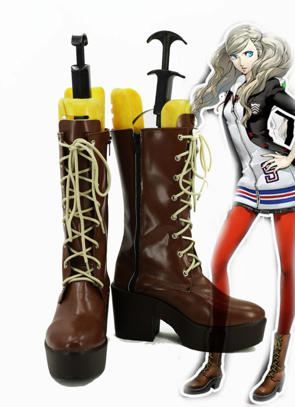 Persona 5 Anne Ann Takamaki Bottes Cosplay Chaussures