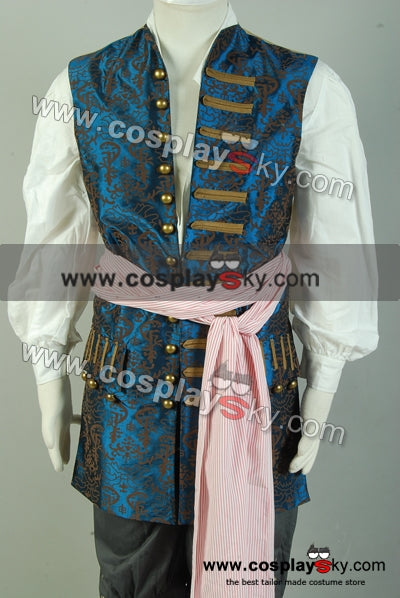 Pirates des Caraïbes 4 Jack Sparrow Cosplay Costume