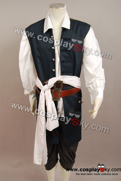 Pirates des Caraïbes Jack Sparrow Gilet Cosplay Costume