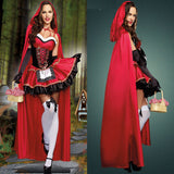 Halloween Femme Chapeau Rouge Sexy Reine Adulte Cosplay Costume