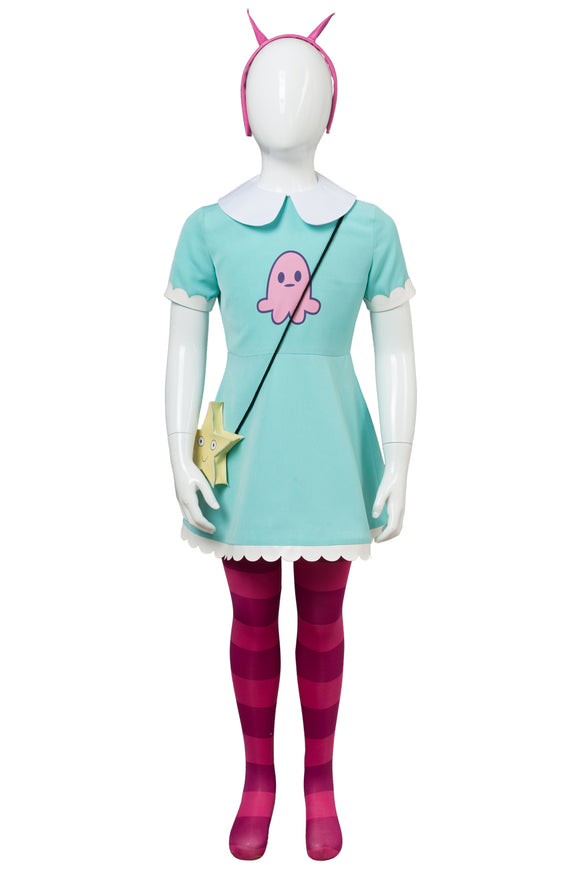 Star vs. the Forces of Evil Princesse Star Butterfly Robe Enfant Cosplay Costume