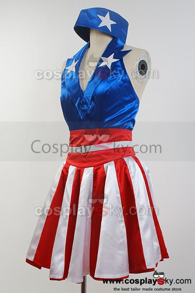 The Avengers Captain America Costume Américain Costume Halloween Cosplay