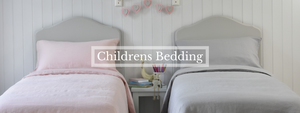 Kids Bed Linen in Chalk Pink and Grey