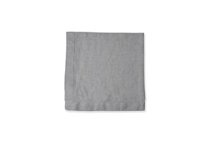 Dove Tumbled Grey Linen Napkin Flat Lay
