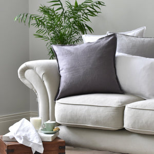 Dark Grey Linen Cushion Cover